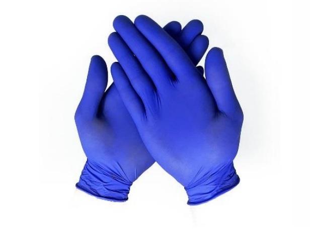 Nitrilové jednorázové rukavice nepudrované - modré M