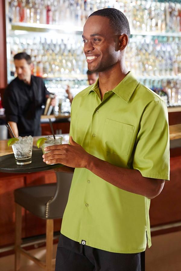 Levně Košile pro číšníky do kavárny UNISEX - 4 barvy Zelená,XXL