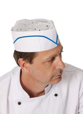 Papírová kuchařská čepice lodička - jednorázová