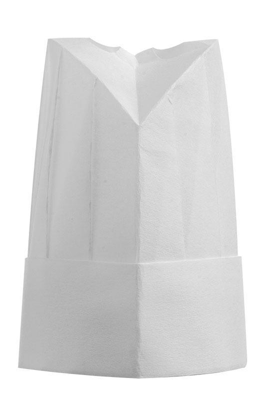 Papírová vysoká kuchařská čepice