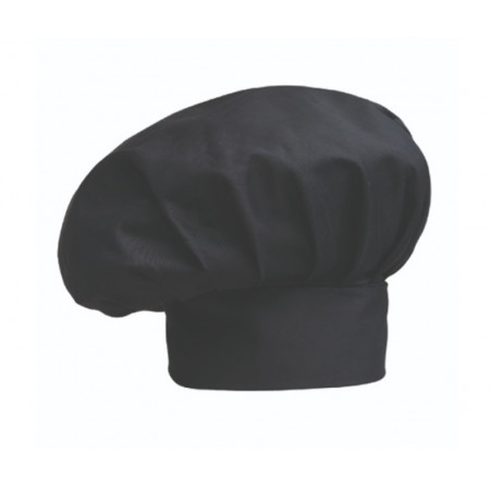 Vysoká kuchařská čepice - černá